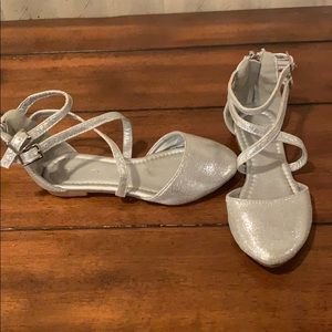 Tahari sparkly silver toddler 10 dress shoes
